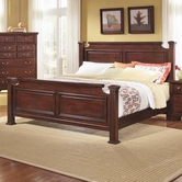 Vaughan Bassett BB51-668-866-944-MS1 New Haven California King Poster Bed