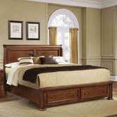 Vaughan Bassett BB52-066B-502-663-666T New Haven King Sleigh Bed with Storage Footboard