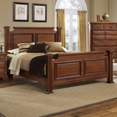 Vaughan Bassett BB52-668-866-944-MS1 New Haven California King Poster Bed