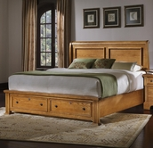 Vaughan Bassett BB53-050B-502-553-555T Lancaster Queen Sleigh Bed with Storage Footboard