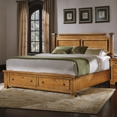 Vaughan Bassett BB53-050B-502-558-555T The Lancaster Queen Poster Bed with Storage Footboard