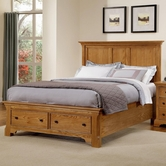 Vaughan Bassett BB75-558-046B-302-444T Forsyth Medium Oak Finish Full Panel Storage Bed