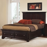 Vaughan Bassett BB76-050B-502-558-555T Forsyth Queen Headboard and Footboard Storage Bed