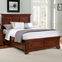 Vaughan Bassett BB77-050B-502-558-555T Forsyth Queen Headboard and Footboard Storage Bed