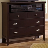 Vaughan Bassett BB8-114 TWILIGHT Media Cabinet -3 drawers, component shelf