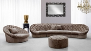 VIG Furniture VG2T0618A-BGE-SET Divani Casa Cosmopolitan Mini - Transitional Acrylic Crystal Tufted Fabric Sofa Set