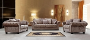 VIG Furniture VG2T0625-1 Divani Casa Marseilles - Traditional Neo-Classical Fabric Sofa Set