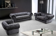 VIG Furniture VG2T0669-3 Divani Casa Metropolitan - Modern Fabric Sofa Set with Tufted Acrylic Crystals