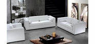 VIG Furniture VG2T0697-W Divani Casa Dublin - Modern Leather Sofa Set with Acrylic Crystals