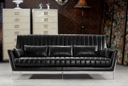 Vig Vg2T0721 0721-Luxury Black Leather Sofa Set
