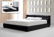 VIG Furniture VG2TAU01-39 Logan Black Leather Bed with storage