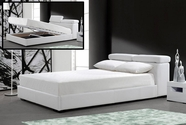 VIG Furniture VG2TAU01-39-WHT Logan - White Leather Bed with Storage