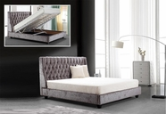 VIG Furniture VG2TAU01-45 Dane -Transitional Tufted Fabric Bed with Lift Storage
