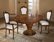 VIG Furniture VGACCELIZABETH-ROUND-BRN Elizabeth - Round Extend-able Dining Table Made in Italy