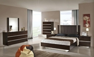 VIG Furniture VGACCLUXOR Luxor - Modern Ebony Lacquer Italian Bedroom Set