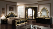 VIG Furniture VGACCROCOCO-BLKGLD Rococco - Italian Classic 5 PC Bedroom Set