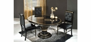 VIG Furniture VGACCROSELLA-ROUND-BLK Rossella Black - Round Extend-able Dining Table Made in Italy