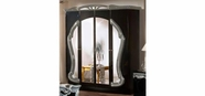 VIG Furniture VGACROCOCO-BLK-DR Rococco - Italian Classic Black-Silver Bedroom 4 Door Wardrobe