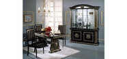 VIG Furniture VGACROSELLA-BLK-DIN-S Rossella - Italian Traditional Dining Set