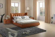 VIG Furniture VGBN-5810 Contemporary Orange Tufted Leatherette Bed