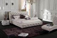 VIG Furniture VGBN-5816 Modern Glossy White Leatherette bed