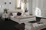 VIG Furniture VGBN-5818 Modern White Tufted Leatherette Bed