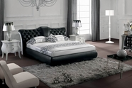 VIG Furniture VGBN-5820 Modern Black Tufted Leatherette Bed