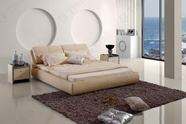 VIG Furniture VGBN-5822 Contemporary Beige Leatherette Bed
