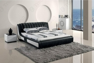 VIG Furniture VGBN-5823 Modern Black Tufted Leatherette bed