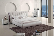 VIG Furniture VGBN-5827 Modern White Leatherette Bed