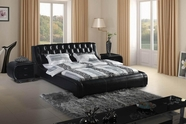 VIG Furniture VGBN-8005 Contemporary Black Tufted Leatherette Bed