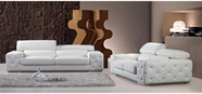 Vig Vgbn2726B Modern Tufted Leather Sofa Set With Headrests-2726B