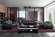 Vig Vgbn2992 Modern Black Leather Sofa Set With Headrests-2992