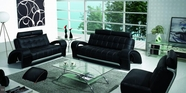 Vig Vgbnb201-1-Bl Bentley-Contemporary Bonded Leather Sofa Set