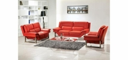Vig Vgbnbo3807-Red New York-Modern 3 Pc Sofa Set