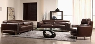 Vig Vgbnbo3946 Divani Casa 3946-Modern Faux Crocodile Leather Accent Sofa Set