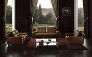 Vig Vgbnbo3950 Bo3950 Modern Brown Leather Sofa Set