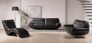 VIG Furniture VGBNSBO3979BLK Divani Casa 3979 - Modern Leather Sofa Set