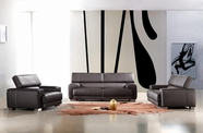 Vig Vgca171-6 Bella Italia Leather 171 Sofa Set In Black Cat. 5