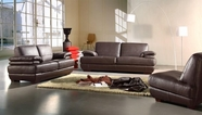 Vig Vgca208-10 Bella Italia Leather 208 Sofa Set In Brown