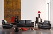 Vig Vgca208-11 Bella Italia Leather 208 Sofa Set In Black