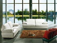 Vig Vgca208-9 Bella Italia Leather 208 Sofa Set In White