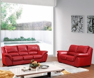 Vig Vgca210 210-Modern Red Italian Leather Sofa Set