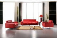 Vig Vgca216-12 Bella Italia Leather 216 Sofa Set In Red