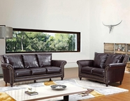 Vig Vgca2239 2239-Classic Brown Italian Leather Sofa Set
