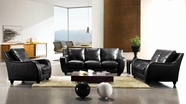 VIG Furniture VGCA2540-BLK Full Leather Bremen Black Sofa Set