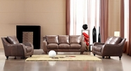 Vig Vgca2540-Brown Full Leather Bremen Brown Sofa Set