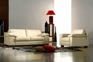 VIG Furniture VGCA44-1 Bella Italia Leather 44 Sofa Set in White