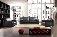 VIG Furniture VGCA44-2 Bella Italia Leather 44 Sofa Set in Black