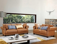 VIG Furniture VGCA4553 4553 - Transitional Brown Fabric Sofa Set